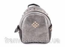 Рюкзак с глянцевой текстурой, светло-серый 8-201706-9041