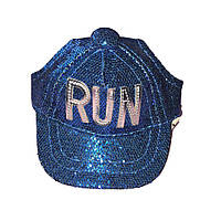 Кепка для собаки RUN-Синий-S