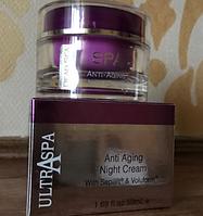 Мощный антивозрастной ночной лифтинг крем для лица Ultraspa с пептидами «молодости» Sepilift & Voluform