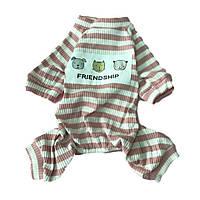 Пижама для собак Полоска-Розовый-S, фото 1