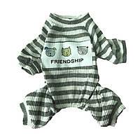 Пижама для собак Полоска-Серый, фото 1