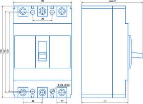 Автомат 3 полюса 40А Icu 25кА 380В (ВА77-1-125), фото 2