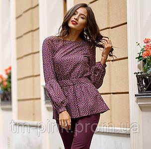 "Блуза рукав зборка ""Tiffany"" фіолет"