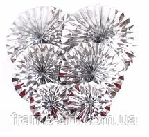 Гармошка для декору 20см срібло 502-2635