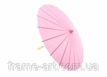 Парасолька декоративний 30см рожевий пастельний 5-21369-4