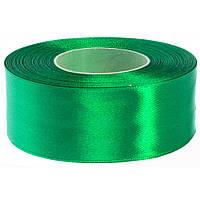 Мягкая сатиновая лента Премиум (38 мм) зеленый