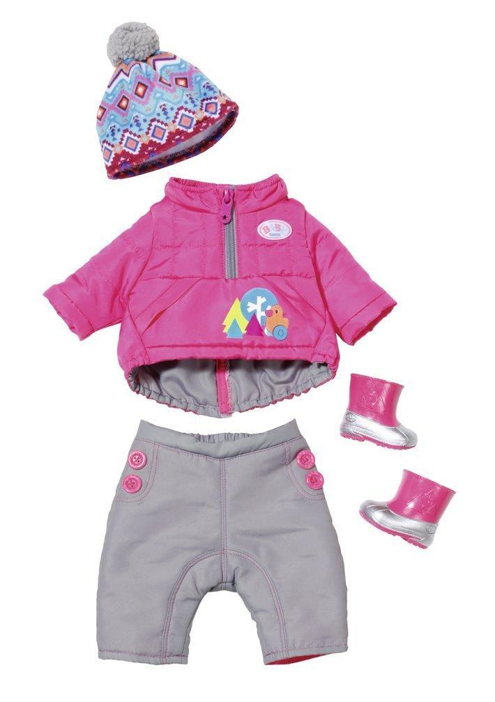 Одежда куклы Беби Борн Baby Born Делюкс Зимний комплект Play & Fun Deluxe Winter Set Zapf Creation 823811