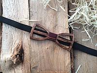 Деревянная бабочка галстук флоуресцентная ручной работы Модель №8