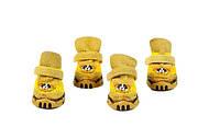 Ботинки для собак-Желтый-№2