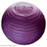Бумажный шар-фонарик, фиолетовый