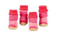 Ботинки для собак с манжетом-Розовый