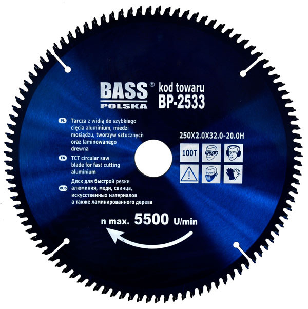 Алюминиевый диск 250 мм x 100T x 32-20H