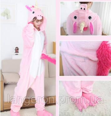 Кигуруми пони розовый 155-165 М My little pony единорог пинки пай kigurumi  костюм pinkie fd358e2e8e1c2