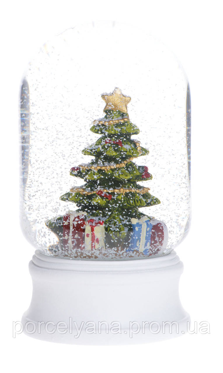 Снежный шар НГ елка 10,5 см