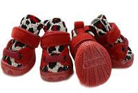 Кросовки для собак-Красный-Размер №2