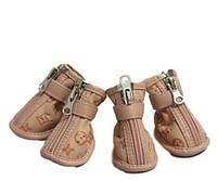 Ботинки для собак LV-Бежевый