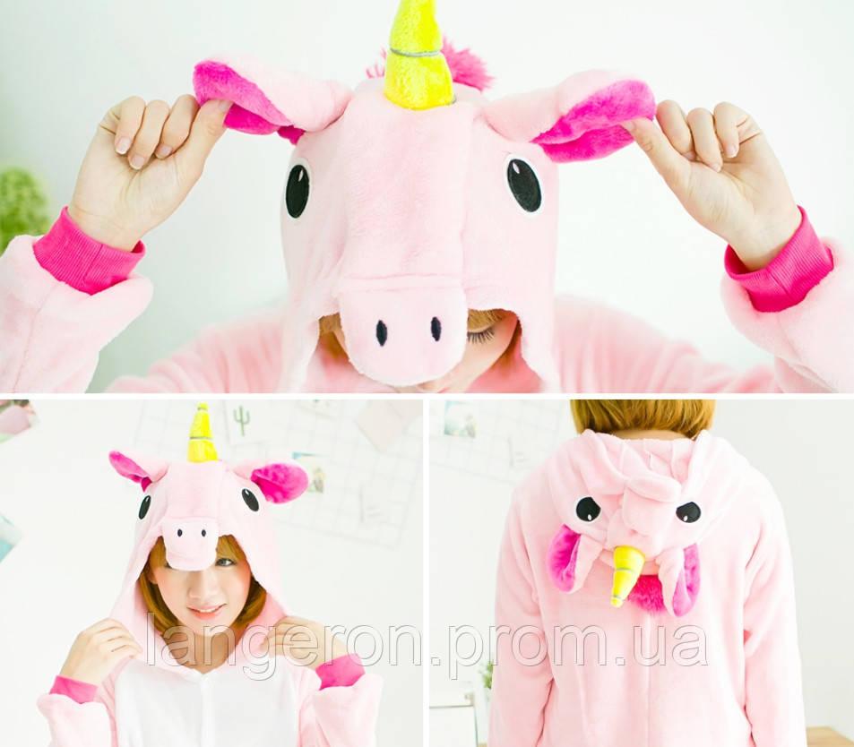 Кигуруми пони розовый 155-165 М My little pony единорог пинки пай kigurumi  костюм pinkie pie 34d4751d1a02f