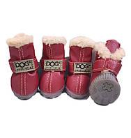 Теплые ботинки для собак -Красный-№2