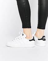 Кроссовки Стэн Смит Adidas Stan Smith  (с черным) СКИДКА!, фото 1