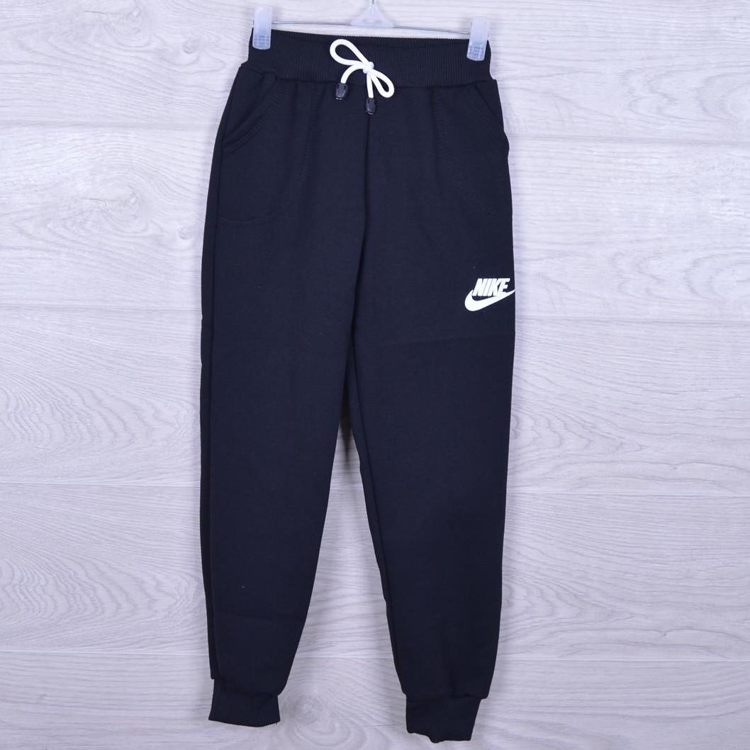 """Утепленные спортивные штаны на флисе """"Nike реплика"""". 3-7 лет. Темно-синие. Оптом"""