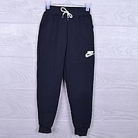 """Утепленные спортивные штаны на флисе """"Nike реплика"""". 3-7 лет. Темно-синие. Оптом, фото 1"""