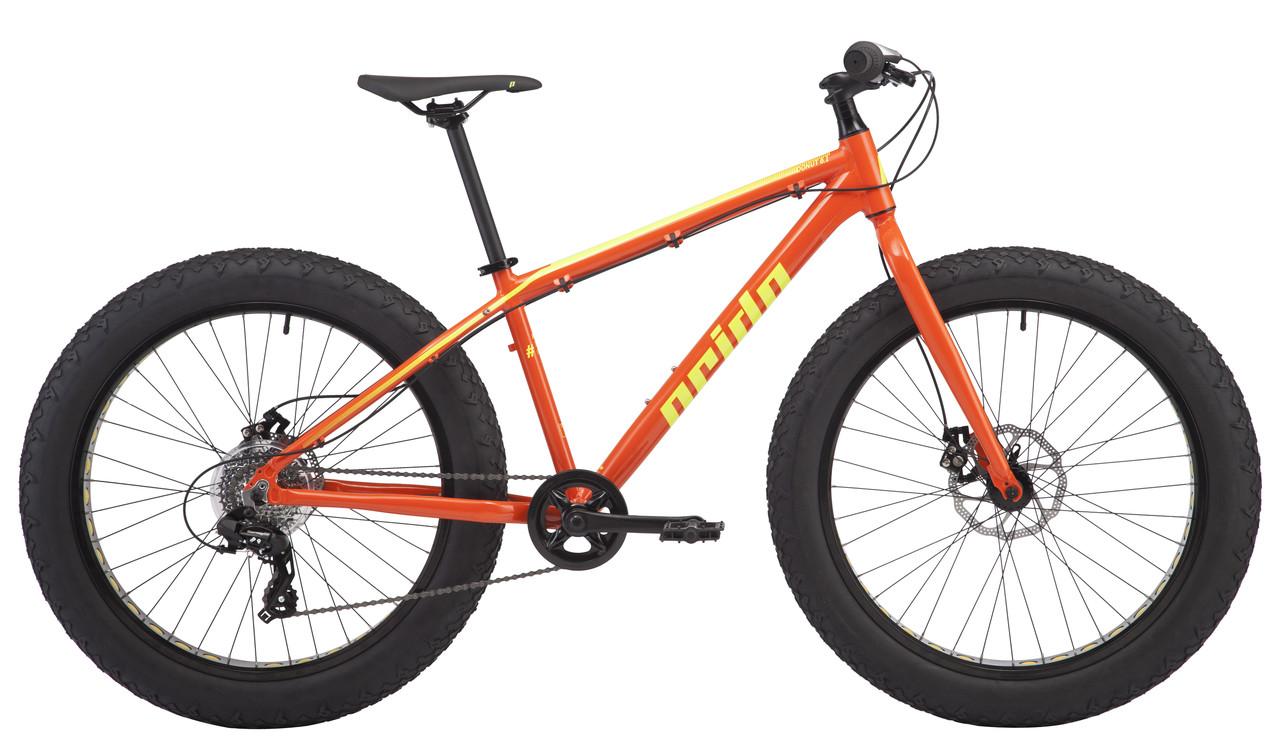 """Велосипед 26"""" Pride Donut 6.1 рама - L оранж/желтый 2018"""