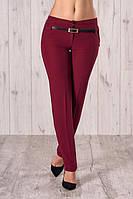 Укороченные стильные брюки с манжетом