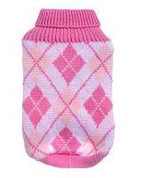 Свитер для собаки с горловиной-Розовый