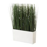 FEJKA Искусственное растение и кашпо, трава