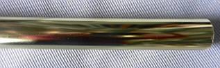 Труба гладкая д. 28 мм, 2,40 м, золото