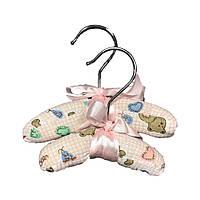 Мягкая вешалка для одежды -Розовый-№S