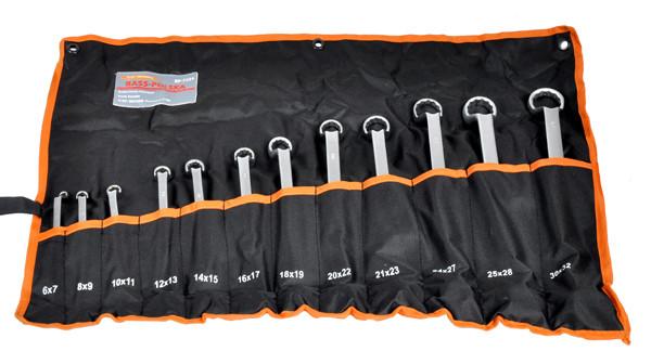 Набор ключей комбинированных изогнутых 12 шт. 6-32мм