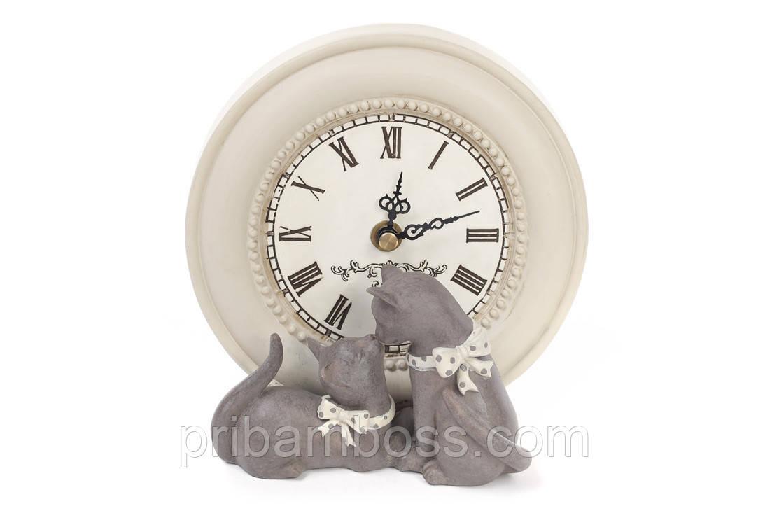Часы настольные Коты 17см