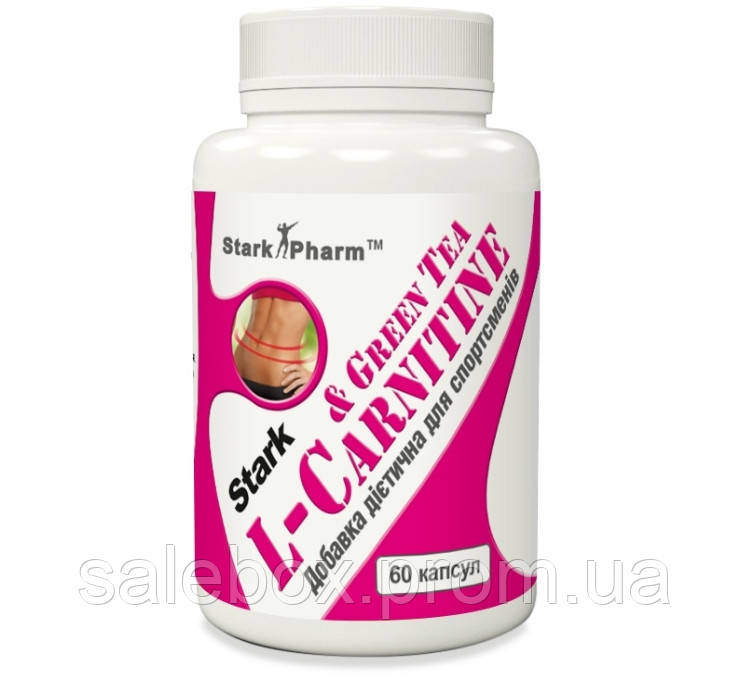 L-Carnitine & Green Tea Extract (Экстракт зеленого чая) 600 мг 60 капсул Stark Pharm БАД