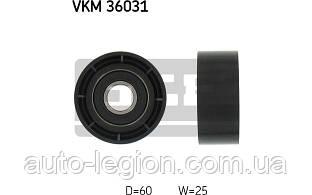 Ролик ручейкового ремня на Renault Trafic  2001->  1.9dCi (-AC)  — SKF (Швеция) - VKM36031