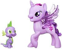 Фигурки Hasbro My Little Pony Сияние - Поющая Твайлайт Спаркл и Спайк (C0718), фото 1