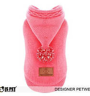 Свитер для собаки с капюшоном-Розовый-L, фото 1
