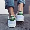 Кроссовки Стэн Смит Adidas Stan Smith (с зеленым) СКИДКА!