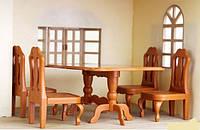 """Набор мебели """"Стол и 4 стула"""" Family (аналог Sylvanian Family) арт. 012-01 В"""