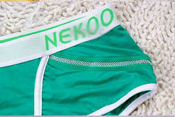 Мужские трусы Nekool зеленые хлопок