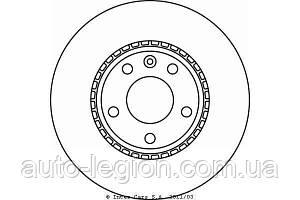 Гальмівний диск передній на Renault Trafic 2001-> — Textar (Німеччина) 98200 1160 0 1
