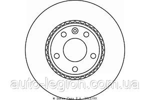 Тормозной диск передний на Renault Trafic  2001->  —  Textar  (Германия)  98200 1160 0 1