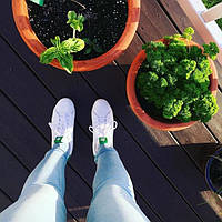 Кроссовки Стэн Смит Adidas Stan Smith (с зеленым) СКИДКА! , фото 1