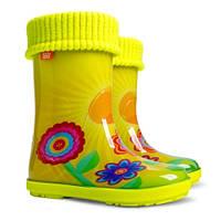 Детские резиновые сапоги HAWAI LUX EXCLUSIVE Demar со съемным носком-утеплителем