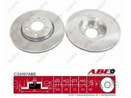 Тормозной диск передний на Renault Trafic  2001->  —  ABE  (Китай) - C31097ABE