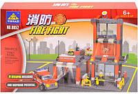 Конструктор Kazi Пожарная станция 8052