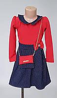 Детское платье с отложным воротником