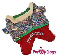 Комбинезон для собак Узор-Зеленый, фото 1