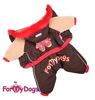 Комбинезон для собаки  Варежки-Коричневый на мальчика