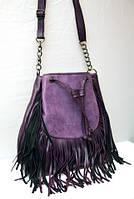 Модная женская сумка в стиле Hippi фиолетовая Zara(копия)